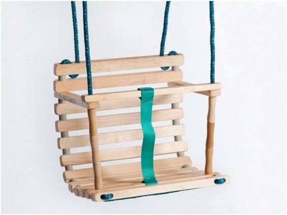 Handcrafted wood swing, made in Lithuania