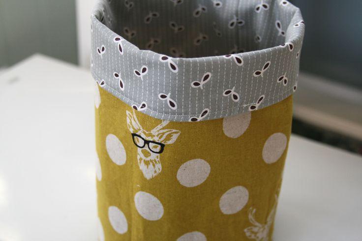 DIY: fabric storage buckets
