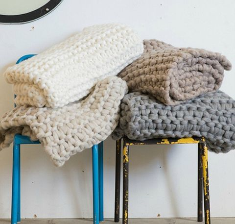 Chunky Wool Knit Throws – Shop U