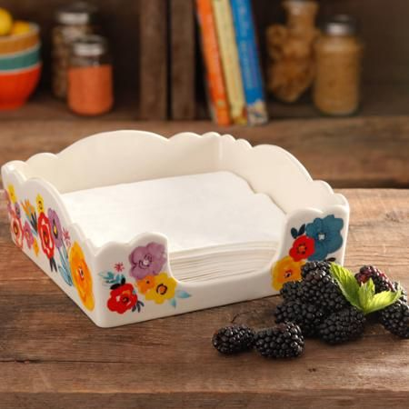 "The Pioneer Woman Flea Market 7.4"" Napkin Box - Walmart.com"