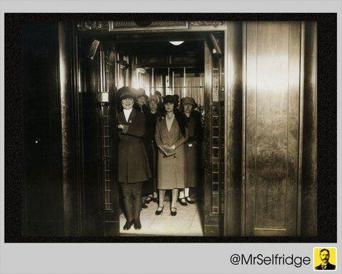 Lift girls, from mr selfridge