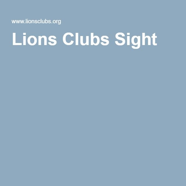 Lions Clubs Sight - Donate glasses