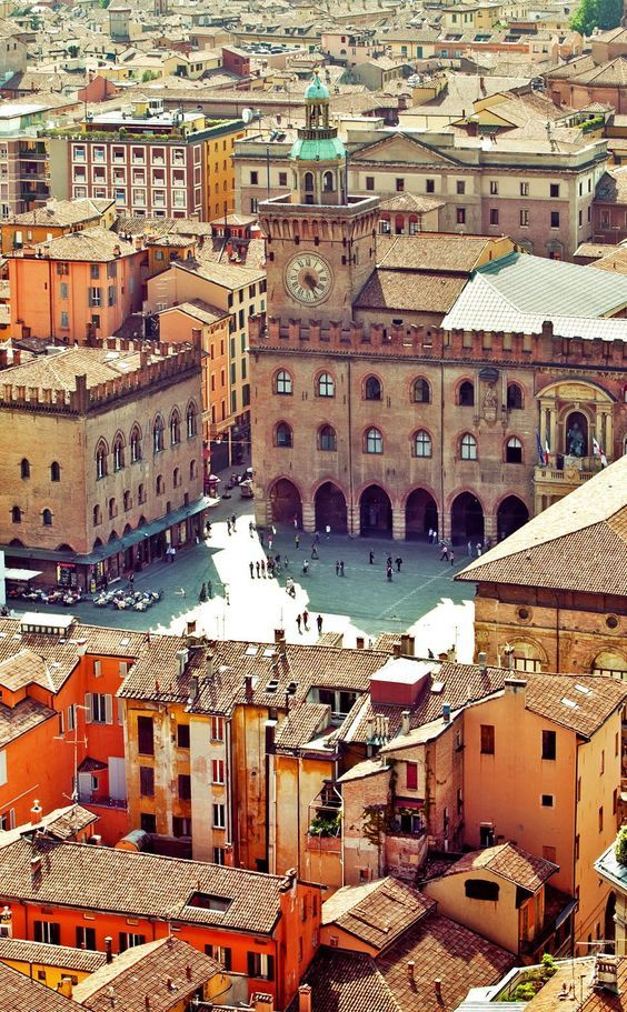 In pretty Bologna, Italy.