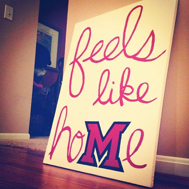 It feels like hoMe- Miami University.  Would be cute for Muscle Shoals instead of Miami.
