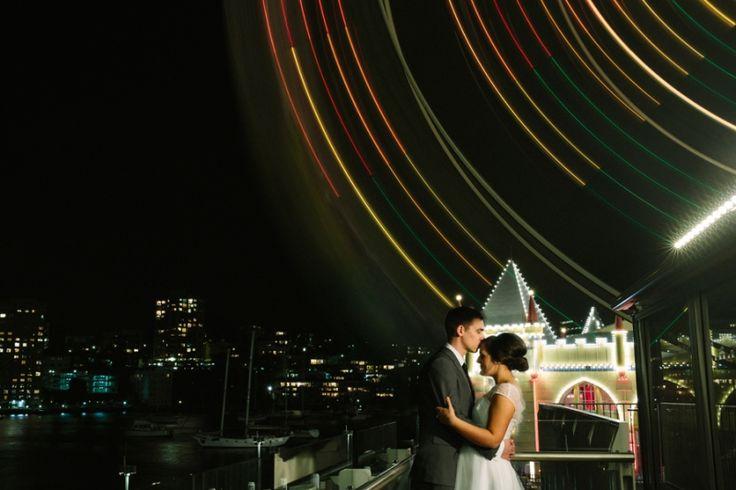 Luna Park Sydney at night. Sydney Wedding Photographer. Image: Cavanagh Photography http://cavanaghphotography.com.au