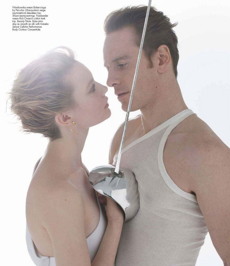 Michael Fassbender and Mia Wasikowska, Jane Eyre promo for W mag
