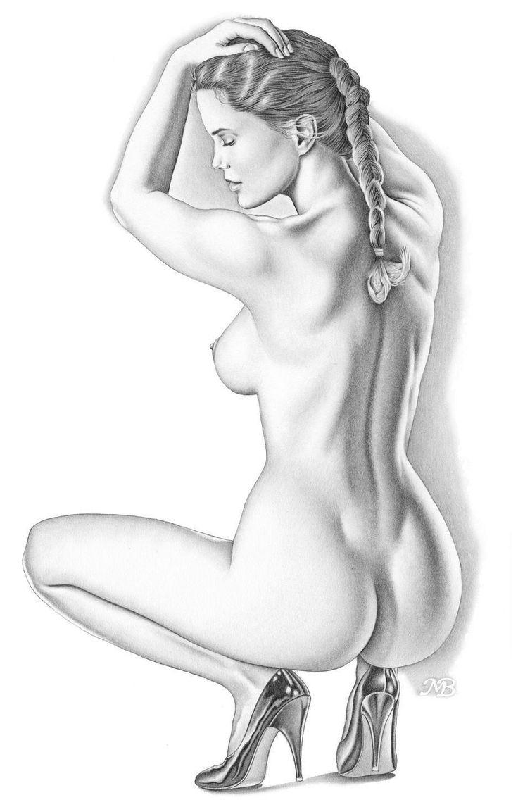 Картинки карандашом голых девушек