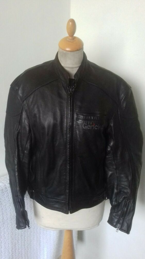 Hein Gericke Leather Biker Motorcycle Jacket Size S Chest 38 For