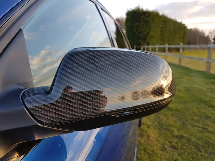 Hydro dipped wing mirror on Audi RS4 by AW Smart Repairs