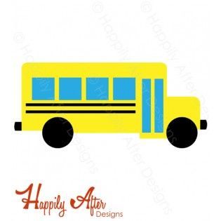 School Bus SVG cutting file and clipart for your back to school craft needs!