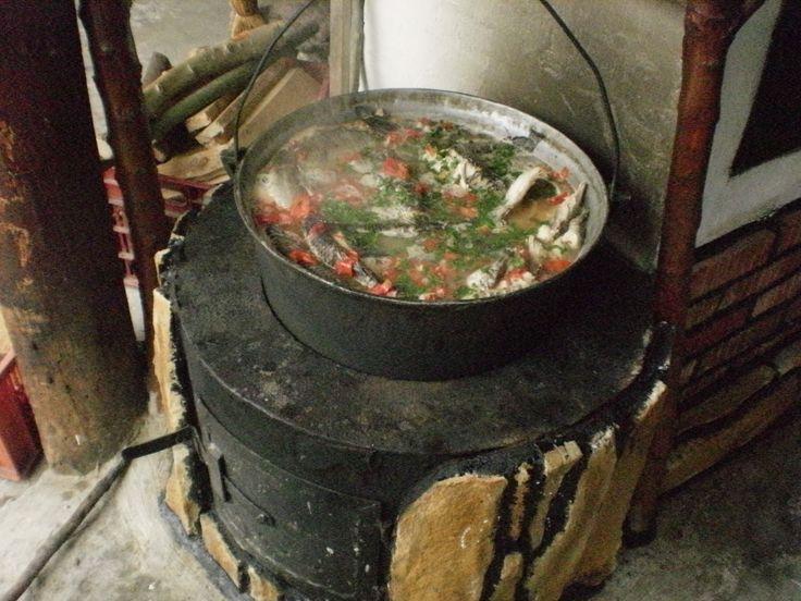 Fisherman's soup in Danube Delta