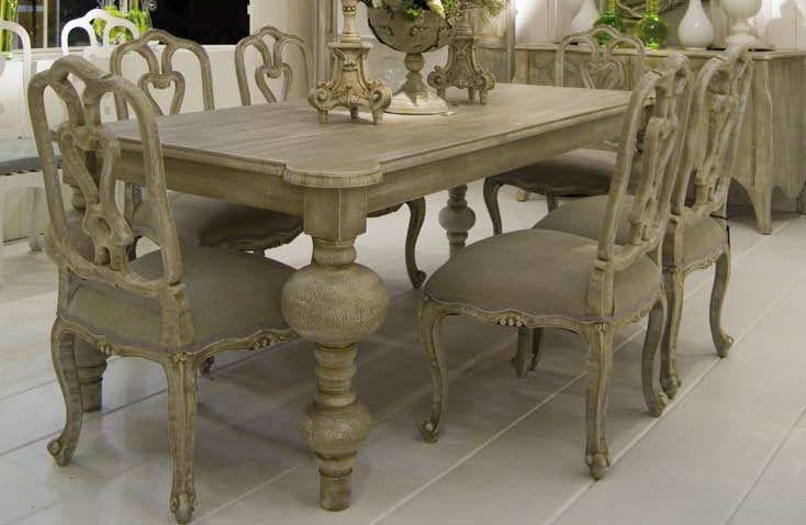 Conjunto cl sico de mesa de comedor 200 x 100 cm con for Mesa comedor cristal 200 cm