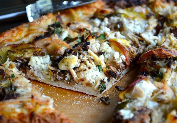 SexyShredRecipes Peach and Balsamic Goat Cheese Pizza from Rachel ...