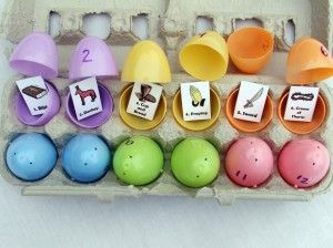 Resurrection eggs.  Tell the Easter story advent style.  Free printable included. - U