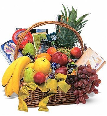 Classic Get Well Fruit and Gourmet Basket: Fruit Gift Baskets - With all the classic favorites it's a classic example of just how great a basket can be.