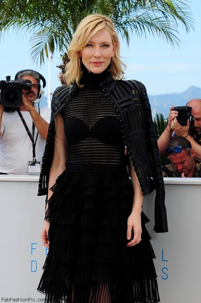 """Cate Blanchett wearing Alexander McQueen at the """"Carol"""" Photocall during the 2015 Cannes Film Festival. #cannes"""