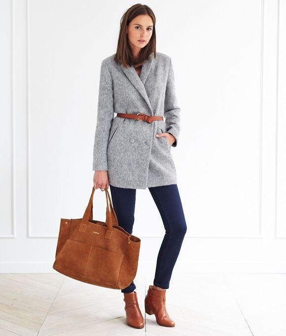 Les 25 meilleures idées de la catégorie Manteau gris sur ...
