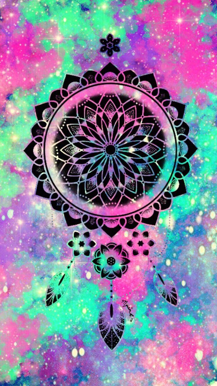 Wallpaper iphone dreamcatcher - Cute Galaxy Dreamcatcher Wallpaper