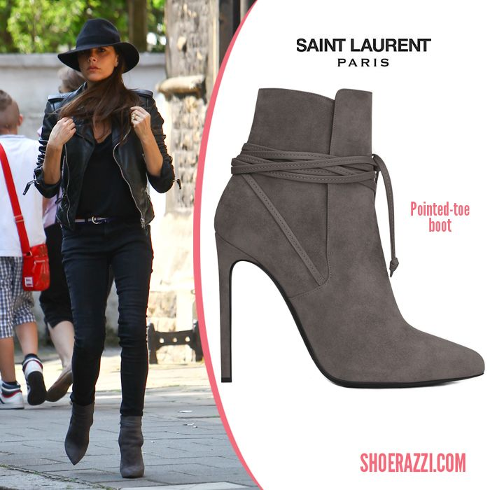 9590a6c009e01 Victoria Beckham in Saint Laurent ankle boots