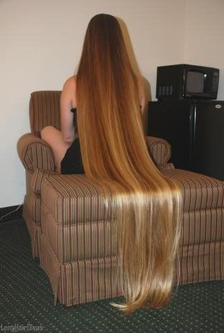 Long Blonde Hair..., that is really long hair. Wish it was on my head !