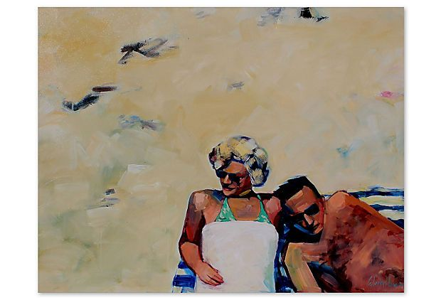 Tracey Sylvester Harris, Beach Couple - love this series