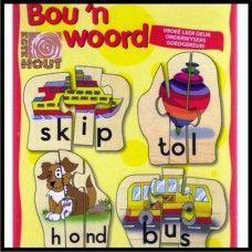 Bou 'n Woord: slegs R55. Hierdie speletjie sal jou kind help om eenvoudige woorde te spel en te lees. Goedgekeur deur onderwysers - Kurrikulum vriendelik. >>>BESKIKBAAR BY: http://www.familietyd.co.za/shop/index.php?route=product/product=59_101_id=93