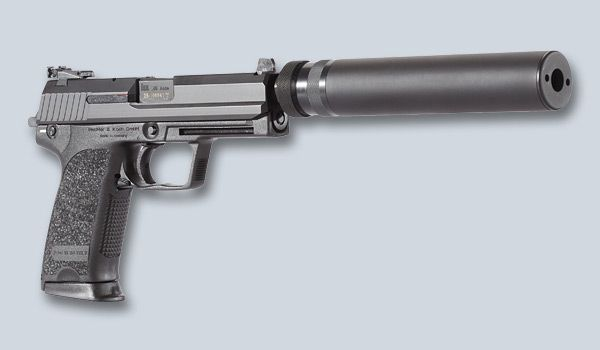 Heckler & Koch USP tactical with suppressor - I don't understand why no one on The Walking Dead uses silencers.