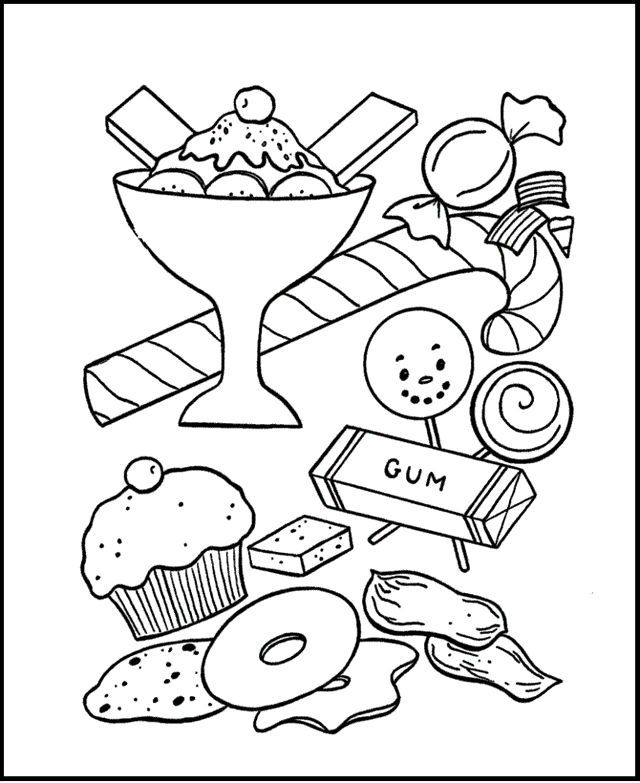 Candy And Gum Coloring Pages Also See The Category To Read