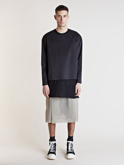 Rick Owens Mens Central Panel Shorts