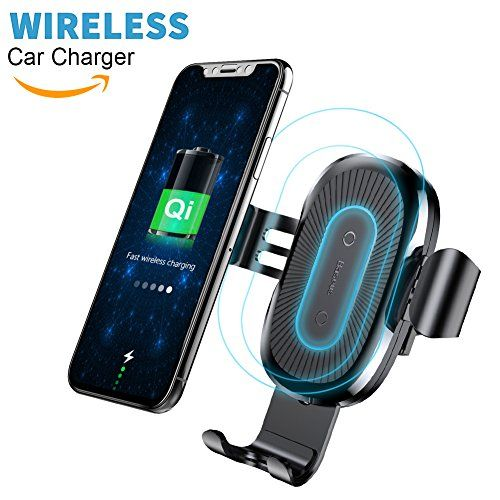 Qi Wireless Car Charger Mount, Baseus Gravity Car Mount Air Vent Phone Holder, Fast Charge for Samsung Galaxy S8 S7/S7 Edge, Note 8 5, Standard Charge for iPhone X, 8/8 Plus and Qi Enabled Devices #Wireless #Charger #Mount, #Baseus #Gravity #Mount #Vent #Phone #Holder, #Fast #Charge #Samsung #Galaxy #Edge, #Note #Standard #iPhone #Plus #Enabled #Devices