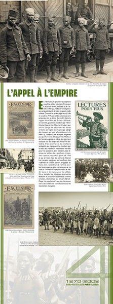 N°4 : L'appel à l'Empire - En 1914 a lieu le premier recrutement massif de soldats coloniaux. Provenant à la fois de l'armée coloniale et de l'armée d'Afrique, l'effectif « indigène » est composé de près de cent cinquante mille soldats. Comme les spahis algériens à Lille en octobre 1914, ces soldats coloniaux sont présents dès le début du conflit dans la région Nord-Pas-de-Calais... © Groupe de recherche Achac