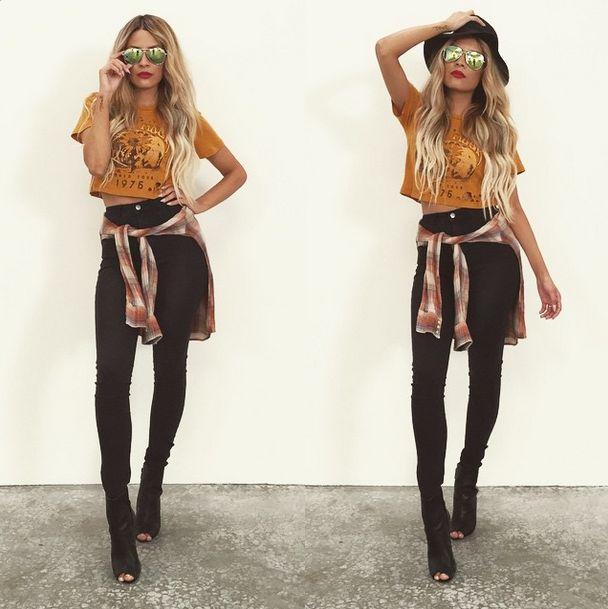 DESI • PERKINS    Hat - H&M   Top - Forever 21   Pants - H&M   Flannel…