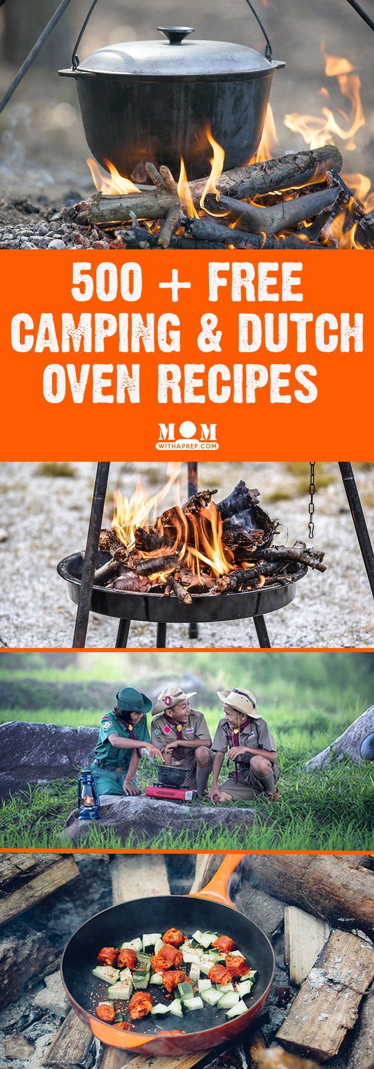 FREE DOWNLOAD: 500+ Camping & Dutch Oven Recipes - perfect for camping out, Boy Scouts, Girl Scouts and summer backyard camping adventures.