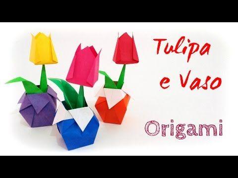 Origami: Jardim de Tulipas - Tulip Garden - YouTube