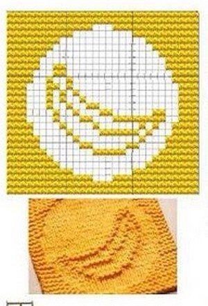 Banana Knit Dish cloths Pattern