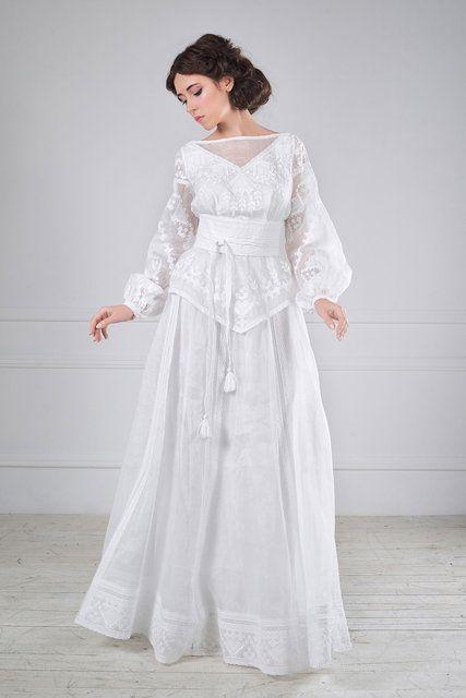 Сукня весільна з вишивкою, фото 1