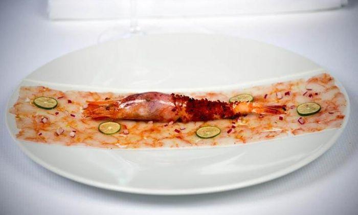 Restaurant Le Fanal - Banyuls Sur Mer: Menu en 4, 5 ou 7 services concocté par le chef Pascal Borrell pour 2 convives dès 66,90 € au restaurant étoilé Le Fanal