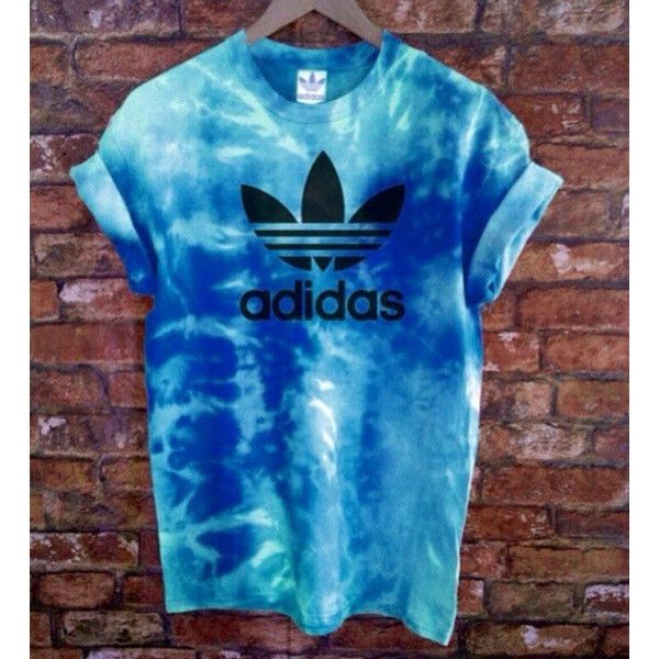 Unisex Authentic Adidas Originals Tie Dye Sea Blue Tie Dye T-Shirt ($46) ❤ liked on Polyvore featuring tops, t-shirts, shirts, grey, women's clothing, gray t shirt, tie dye t shirts, blue shirt, t shirts and tie dyed shirts