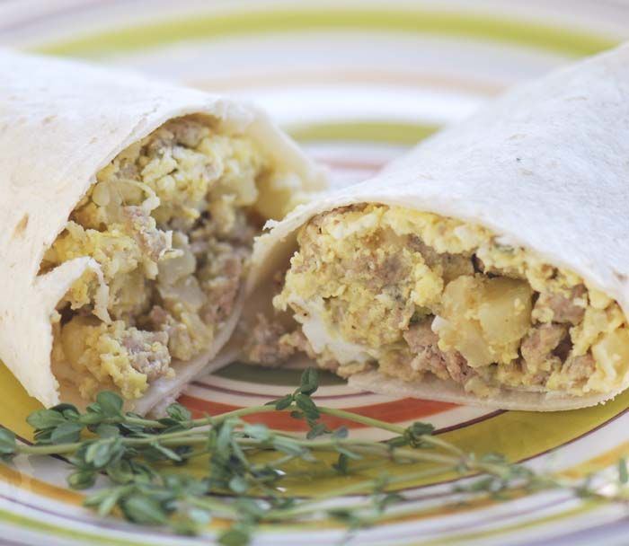 Easy make ahead and freeze breakfast burritos. 7 points ...