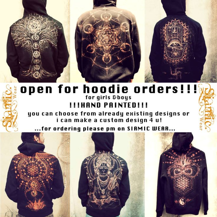 sacred geometry hoody : flower of life : menswear : hoody : chakras : tree of life : fatimas hand https://www.facebook.com/siamic.wear