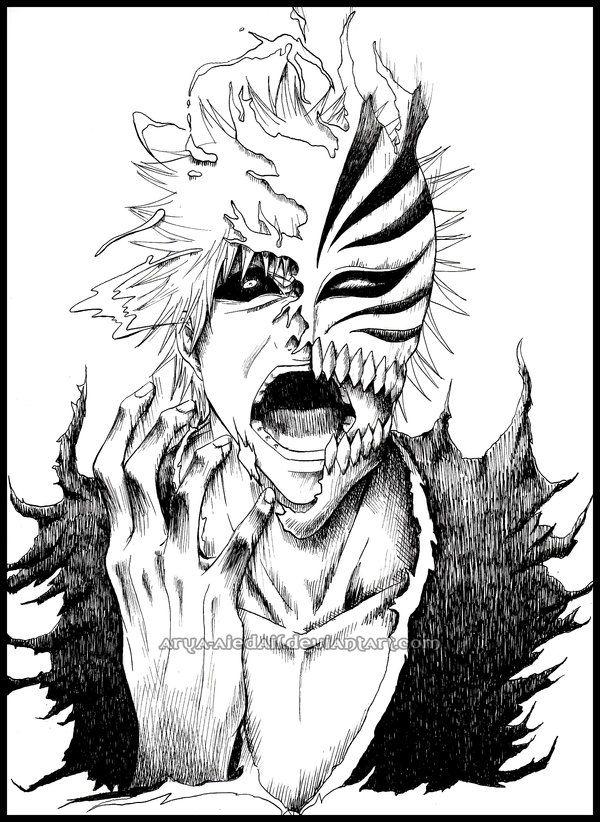 Hollow Ichigo by Arya-Aiedail.deviantart.com  Bleach © Kubo Tite