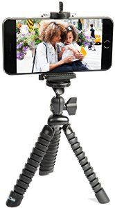 Amazon.com: Flexible iPhone Tripod with Universal Grip Mount | Best Mini Cell Phone Tripod Stand with Octopus Legs fits Any Smartphone | Portable for Travel and Adventure with bonus Photography Guide: Cell Phones & Accessories