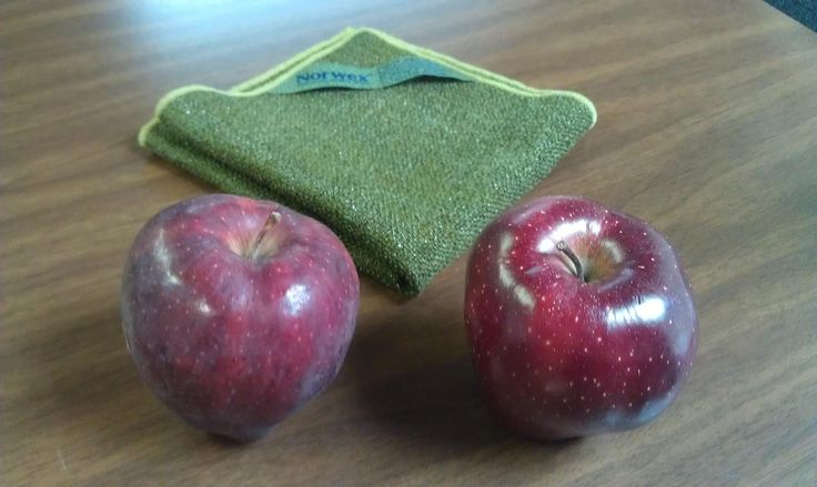 Norwex fruit scrub cloth...remove all wax and pesticides from fruit and vegetables with this amazing cloth!!!  www.kristinmalo.norwex.biz