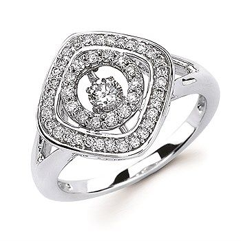 1/2 Ct twt, Shimmering Diamond 14k Gold Fashion Ring
