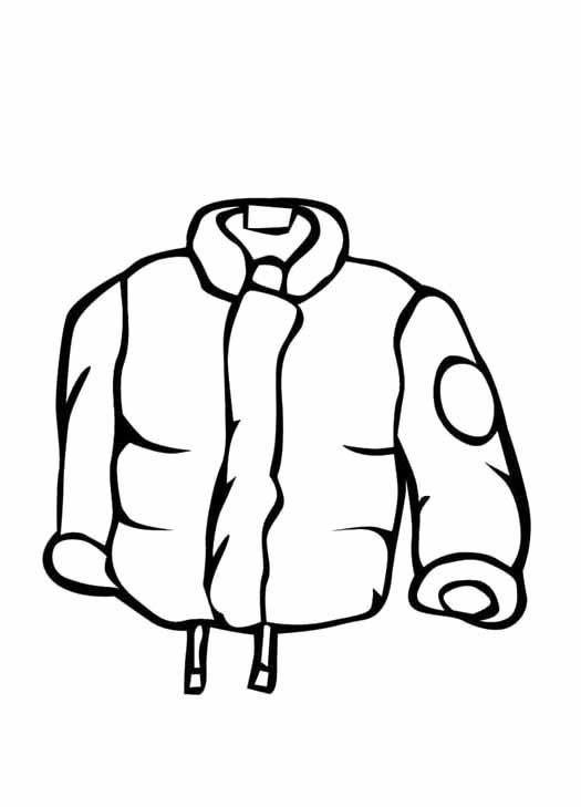 coloring pages of winter coat - photo#10