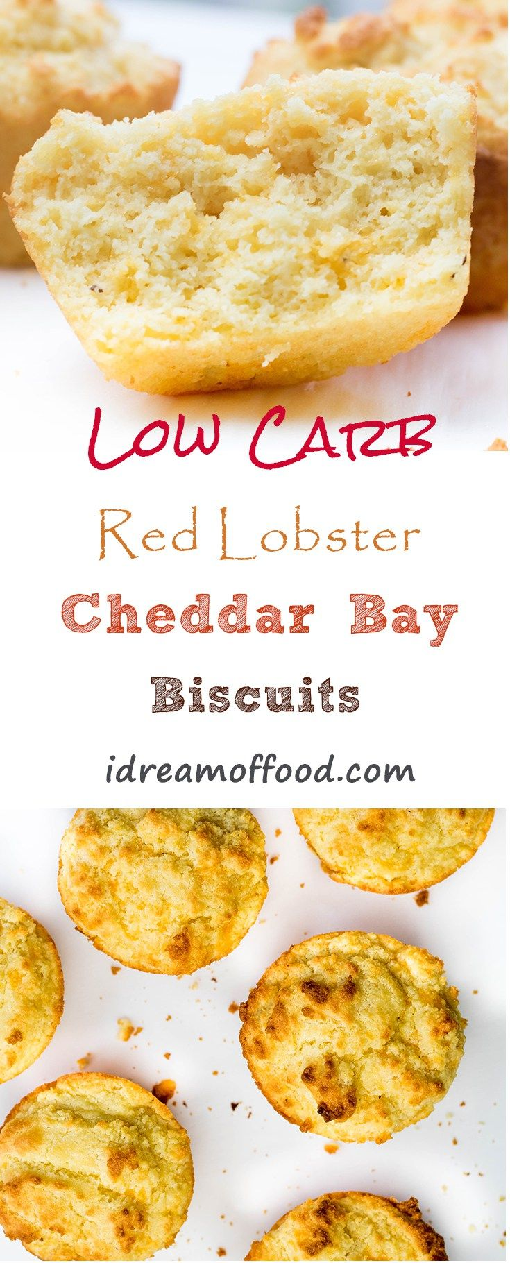 Low Carb Red Lobster Cheddar Bay Biscuits. Moist and delicious low-carb biscuits/muffins with all the flavors of Red Lobster Cheddar Bay biscuits. I guarantee no one will be able to tell these aren't a high-carb bread. These muffins are perfect for a ketogenic diet and lifestyle. LCHF, Atkins, Banting, Low Carb,