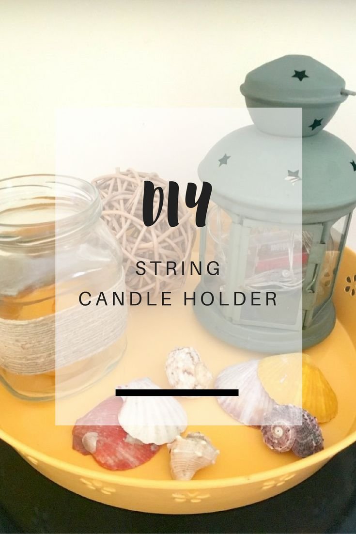 Turn your empty jars into beautiful candle holders with this easy, 5-minute craft project - Ioanna's Notebook