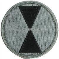 7th infantry division ACU military Patch