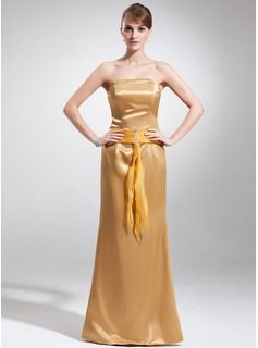 Wedding Party Dresses - $142.99 - Sheath Strapless Floor-Length Organza Charmeuse Mother of the Bride Dress With Ruffle Beading  http://www.dressfirst.com/Sheath-Strapless-Floor-Length-Organza-Charmeuse-Mother-Of-The-Bride-Dress-With-Ruffle-Beading-008016165-g16165