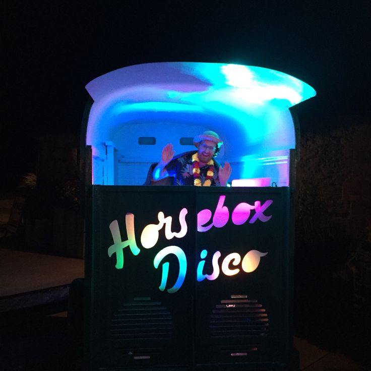 Horsebox Disco DJ Booth with Lionel Richtea at the controls  Available for weddings, festivals and equine events